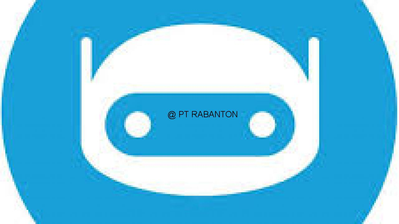 Official Telegram Bot PT. Rabanton MJA